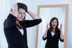 Mujer furiosa Imagen de archivo libre de regalías