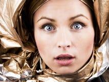 Mujer futurista Foto de archivo libre de regalías