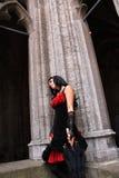 Mujer gótica Fotos de archivo