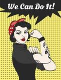 Mujer gótica punky del subcultivo del vector con la firma podemos hacerla Foto de archivo