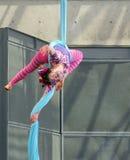 Mujer-gato del gimnasta Fotos de archivo