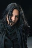 Mujer gitana seria del retrato Imagen de archivo libre de regalías