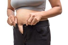 Mujer gorda Imagenes de archivo