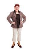 Mujer gorda feliz Imágenes de archivo libres de regalías
