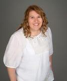 Mujer gorda feliz Fotos de archivo