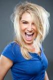 Mujer grande de la sonrisa Imagen de archivo libre de regalías