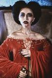 Mujer grave Imagen de archivo