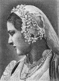 Mujer griega en traje nacional fotos de archivo libres de regalías
