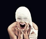 Mujer gritadora Fotos de archivo libres de regalías