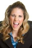 Mujer gritadora enojada Imagen de archivo