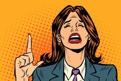 Mujer gritadora que destaca libre illustration