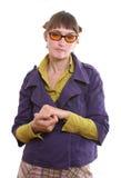 Mujer gruñona Foto de archivo libre de regalías