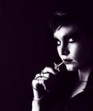 Mujer gótica joven Foto de archivo libre de regalías