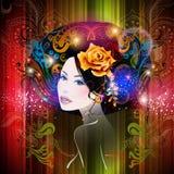 Mujer hermosa Libre Illustration