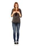 Mujer hermosa adolescente con la depresión Imágenes de archivo libres de regalías