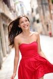 Mujer hermosa asiática en vestido del verano Foto de archivo libre de regalías