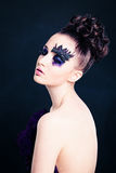 Mujer hermosa con Art Makeup Imagenes de archivo
