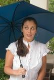 Mujer hermosa con el paraguas Imagen de archivo