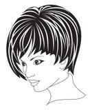 Mujer hermosa con el pelo corto foto de archivo libre de regalías