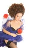 Mujer hermosa con el pelo marrón. Fotografía de archivo