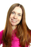 Mujer hermosa con el pelo marrón largo Imagen de archivo libre de regalías