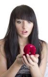 Mujer hermosa con el presente Imagen de archivo libre de regalías
