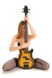 Mujer hermosa con la guitarra Imágenes de archivo libres de regalías