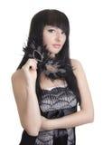 Mujer hermosa con la máscara Imagen de archivo libre de regalías