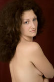 Mujer hermosa con las tetas al aire Imagen de archivo libre de regalías