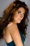 Mujer hermosa con los ojos azules Imágenes de archivo libres de regalías