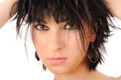 Mujer hermosa con los ojos verdes Foto de archivo