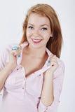 Mujer hermosa con maquillaje Fotos de archivo libres de regalías