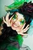 Mujer hermosa con maquillaje artístico. Imágenes de archivo libres de regalías