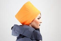 Mujer hermosa con maquillaje creativo Fotografía de archivo libre de regalías