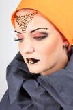 Mujer hermosa con maquillaje creativo Imagenes de archivo