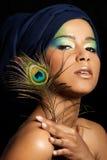 Mujer hermosa con maquillaje profesional Fotografía de archivo libre de regalías