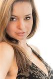 Mujer hermosa con mirada atractiva Foto de archivo libre de regalías