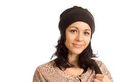 Mujer hermosa con una sonrisa preciosa Imagen de archivo libre de regalías