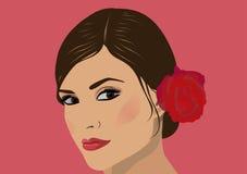 Mujer hermosa de la cara stock de ilustración