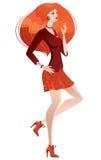 Mujer hermosa de la manera Stock de ilustración