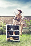 Mujer hermosa de la moda Fotografía de archivo