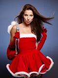 Mujer hermosa de la Navidad Foto de archivo