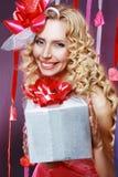 Mujer hermosa de las tarjetas del día de San Valentín Fotografía de archivo libre de regalías