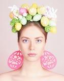 Mujer hermosa de Pascua hairstyle Foto de archivo libre de regalías