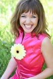 Mujer hermosa de risa Foto de archivo
