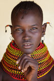 Mujer hermosa de Turkana en Loyangalani, Kenia foto de archivo