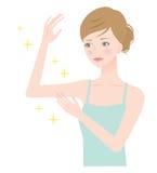 mujer hermosa del brazo Imagen de archivo libre de regalías