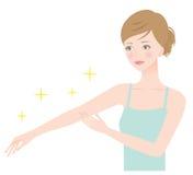 mujer hermosa del brazo Foto de archivo libre de regalías