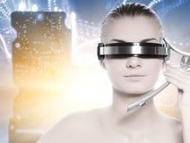 Mujer hermosa del cyber Foto de archivo libre de regalías