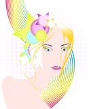 Mujer hermosa del disco Imagen de archivo